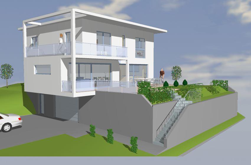 Neubau Architektur Ronner Kaltbrunn moderne Architektur zeitgenössisch Flachdach