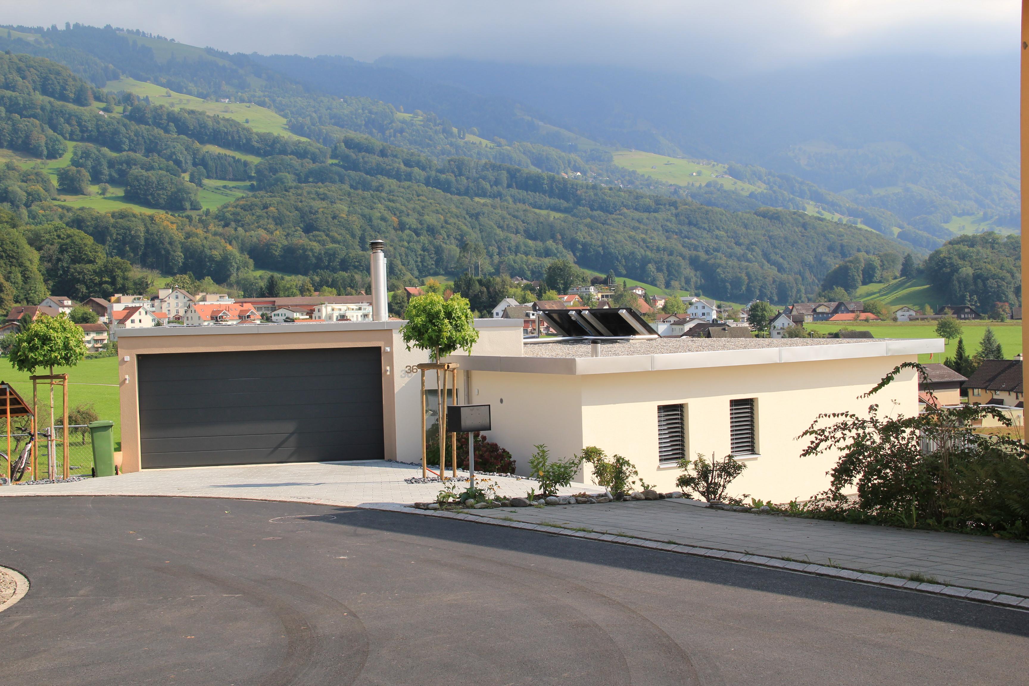 Neubau Architektur Ronner Planung Bauleitung Bau Kaltbrunn Müllisperg neues Heim modern zeitgenössisch