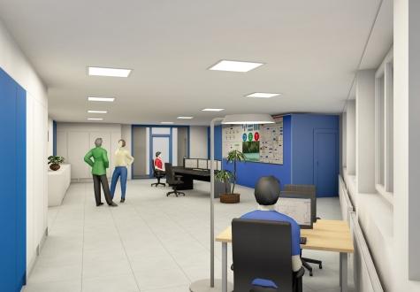 KVA Industriebau Büro Visu Visualisierung Perspektive 3D Computeranimiert Animierung Linth Niederurnen Glarus St.Gallen