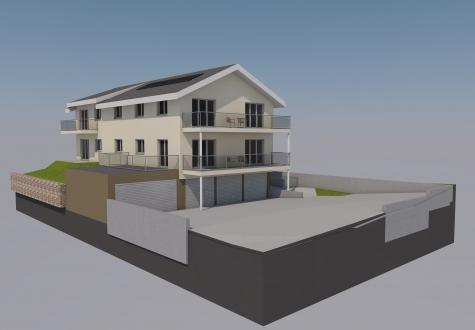Neubau MFH EFH Schänis Kaltbrunn Architektur Wohnung Neu modern Baueingabe Mehrfamilienhaus