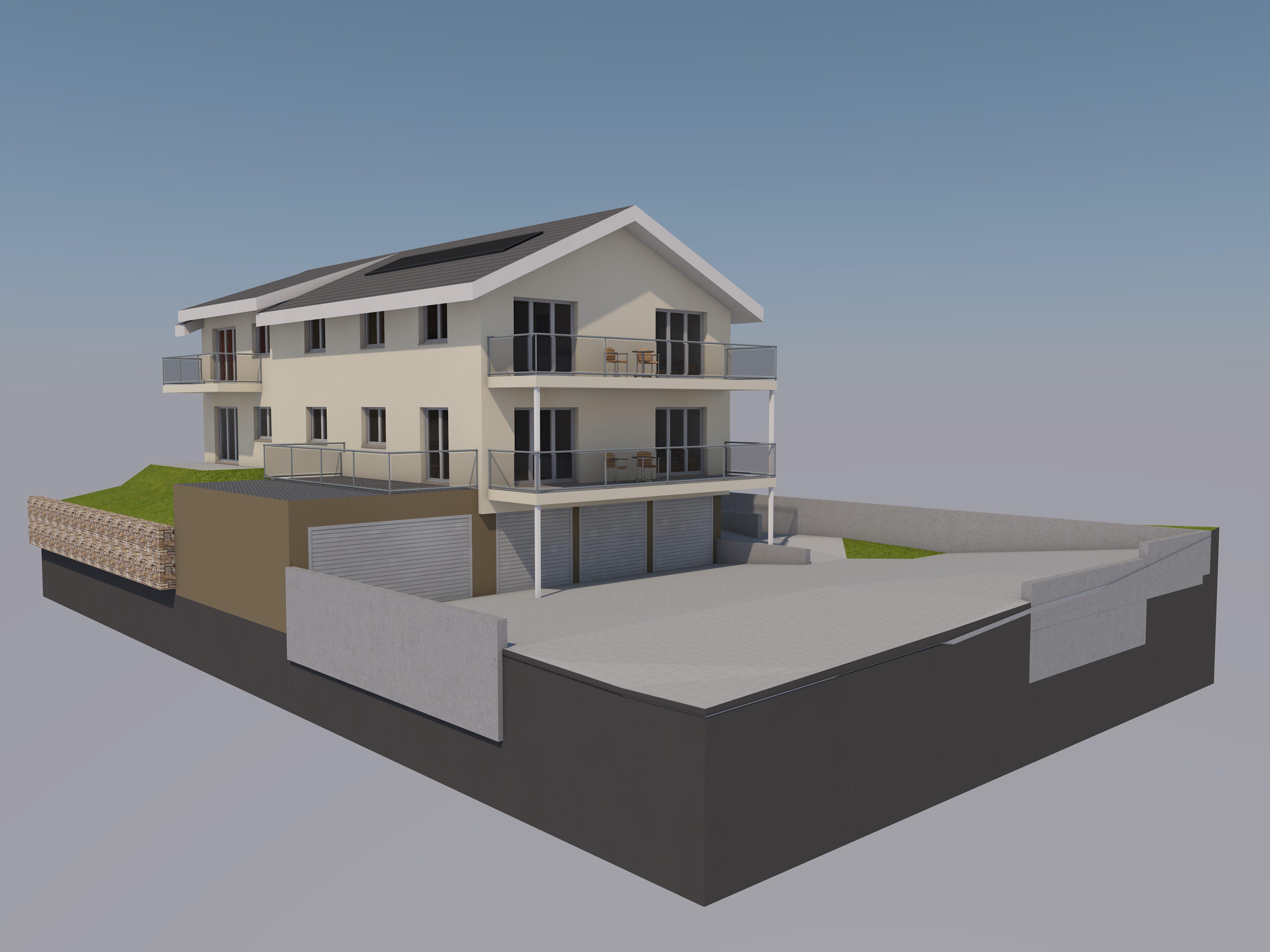 Neubau modern moderne Architektur MFH Mehrfamilienhaus Schänis Kaltbrunn Ronner Architketur Bauleitung Planung