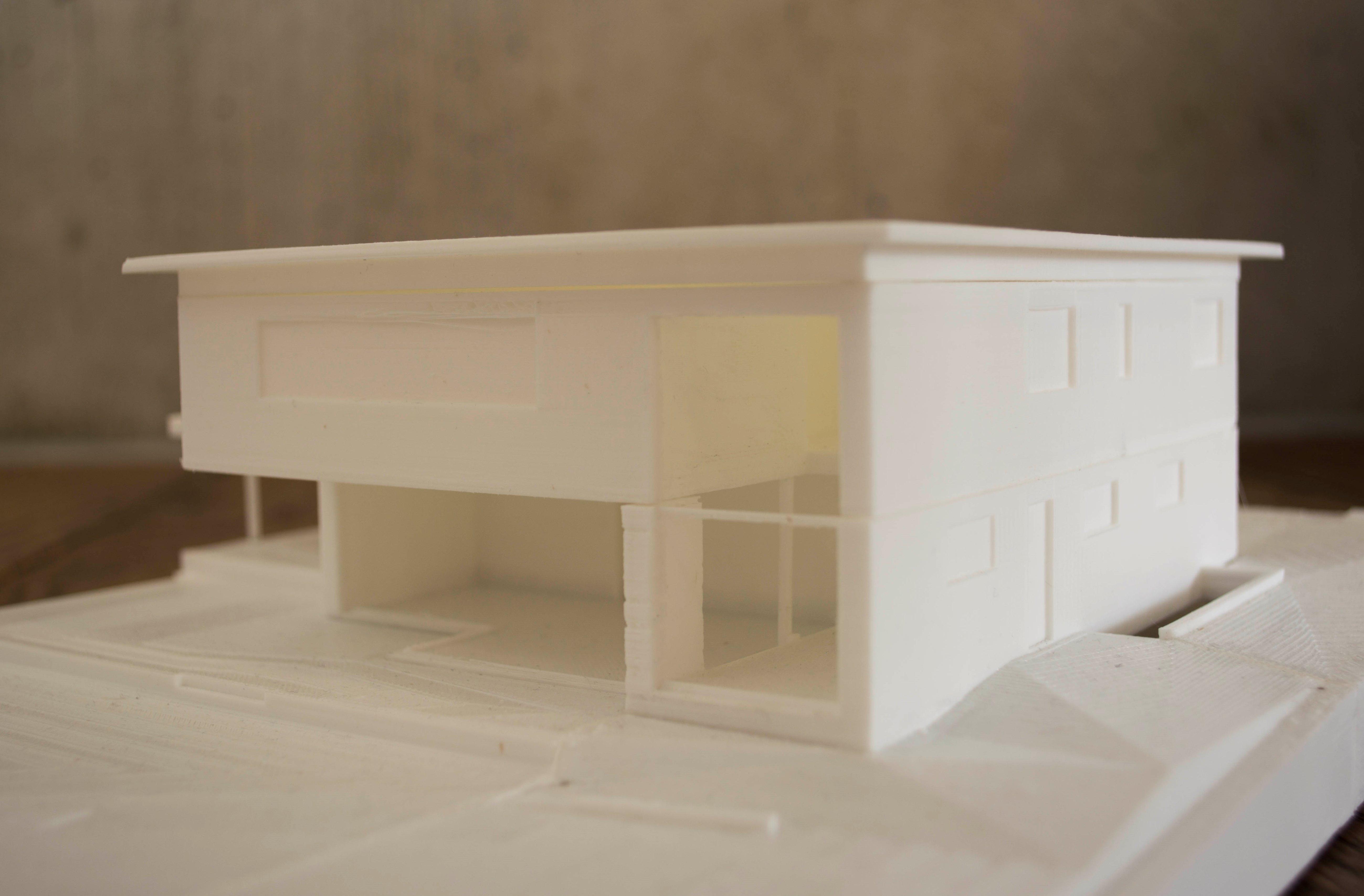 3D Drucker Modell Architektur Moderne modern zeitgenössisch Kaltbrunn Ronner Bauleitung Planung
