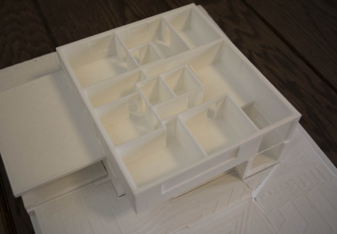 3D Drucker Modell Architektur Moderne modern zeitgenössisch Kaltbrunn Ronner Bauleitung Planung 1.Stock erste Etage
