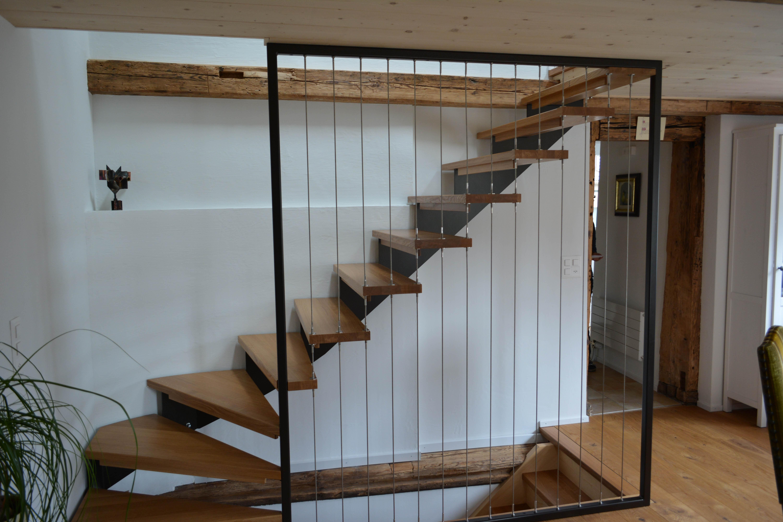 Umbau Altbau Ronner Architektur Planung Bauleitung Alt Neu modern Holz Riegelhaus Treppe Holztreppe