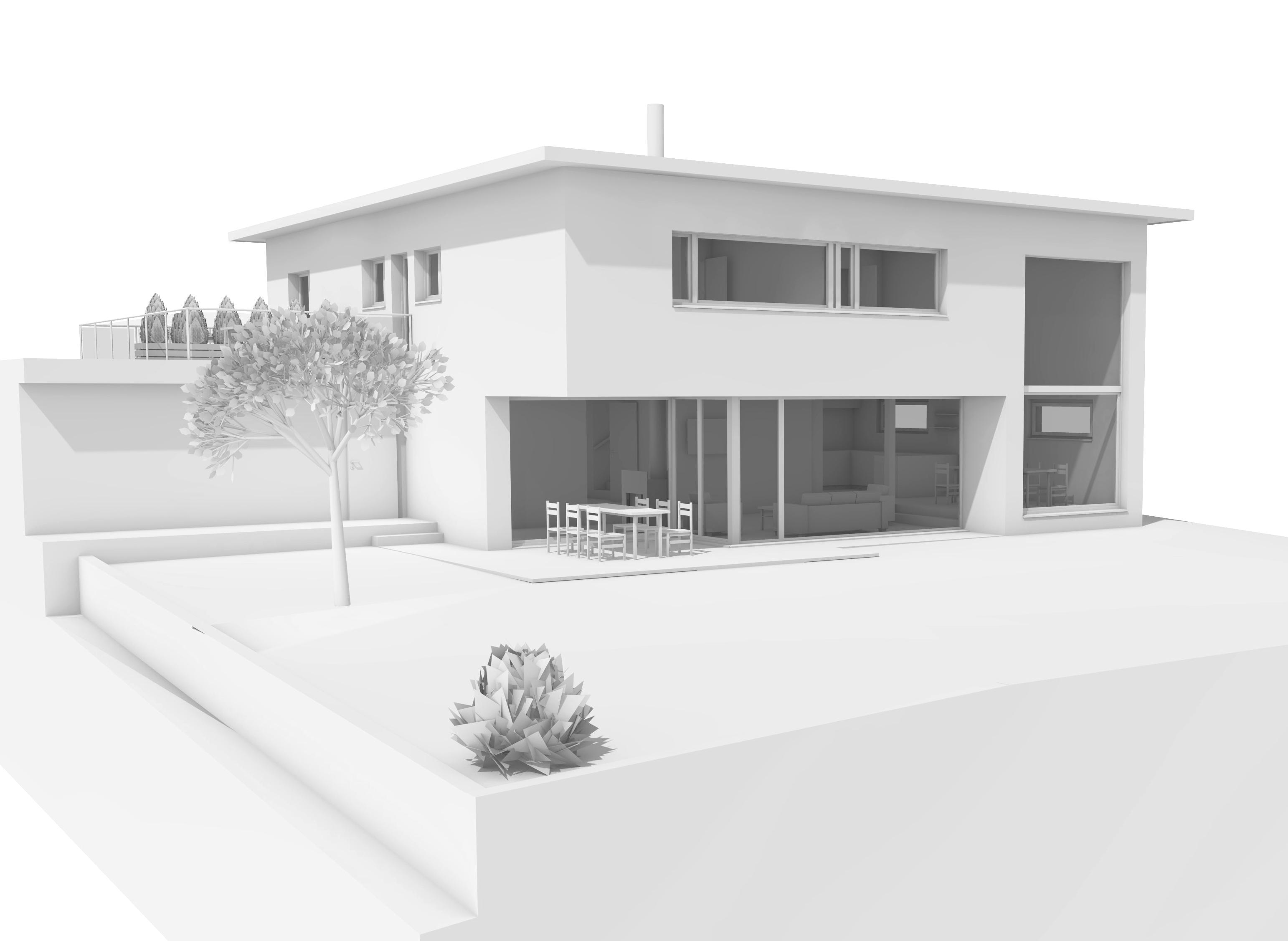 Architektur Ronner Kaltbrunn Neubau Einfamilienhaus EFH Modern Kubisch Bauleitung