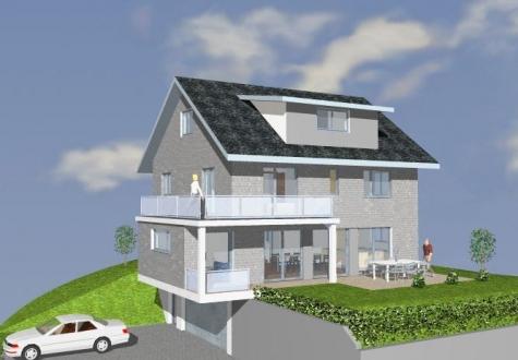 Studie Variante moderne Architektur Familie Garten Bauleitung Planung Kaltbrunn Ronner